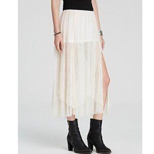 Free People Sugar Plum Fairy Tulle Lace Skirt